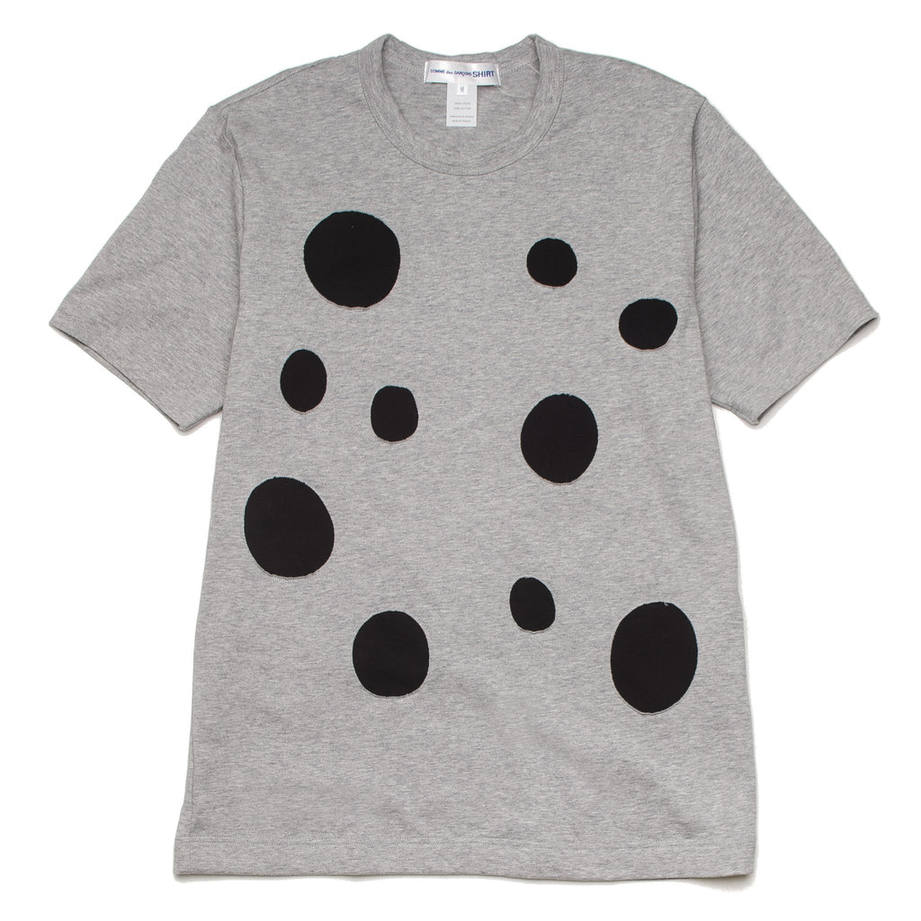 Dots Cut Short Sleeve S26120 Grey