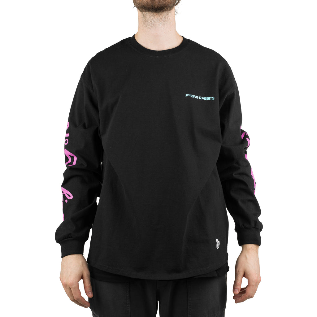 No5moking L/S Tee Black
