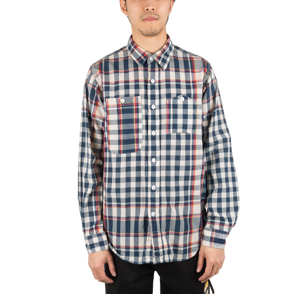 Work Shirt Big Plaid Madras Navy Navy