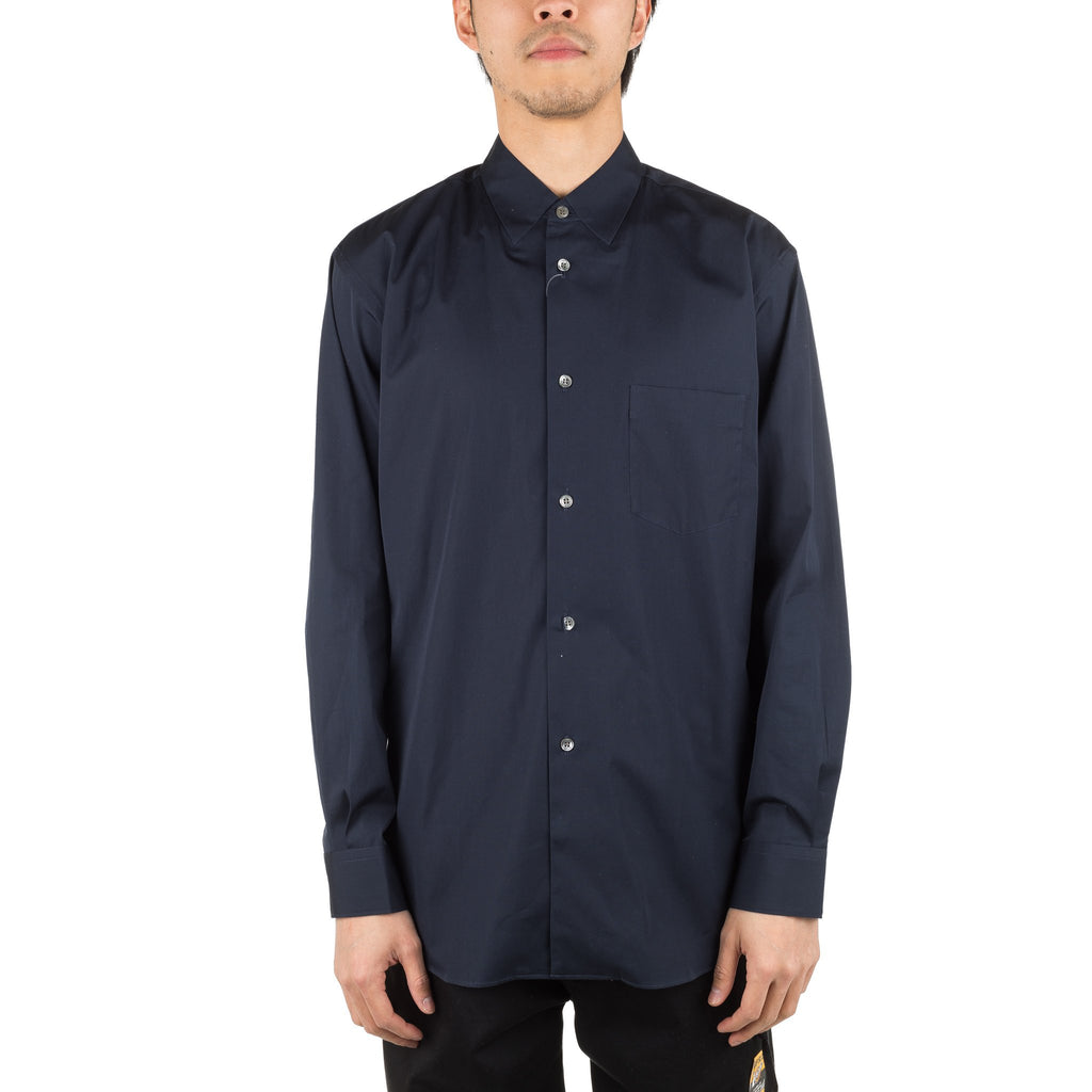 No Collar Shirt S26079 Navy