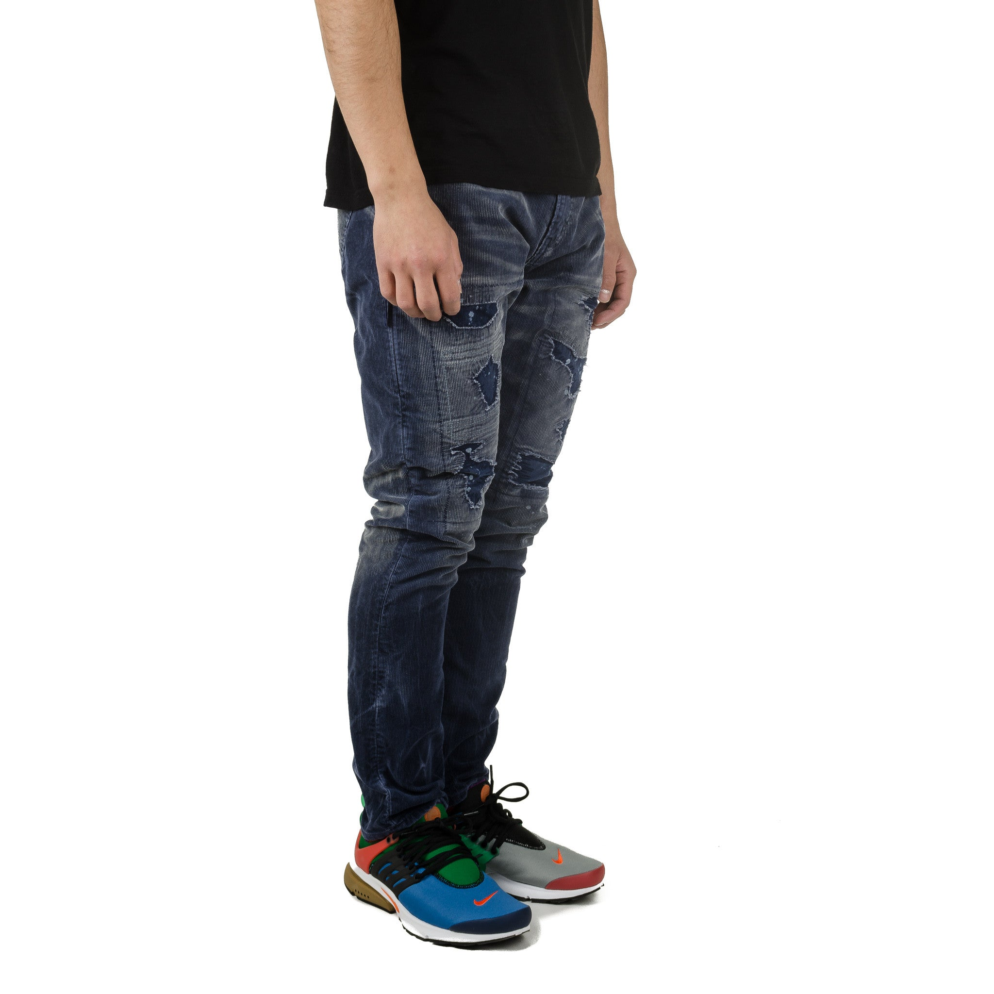 Remake Tapered Corduroy Pants Navy