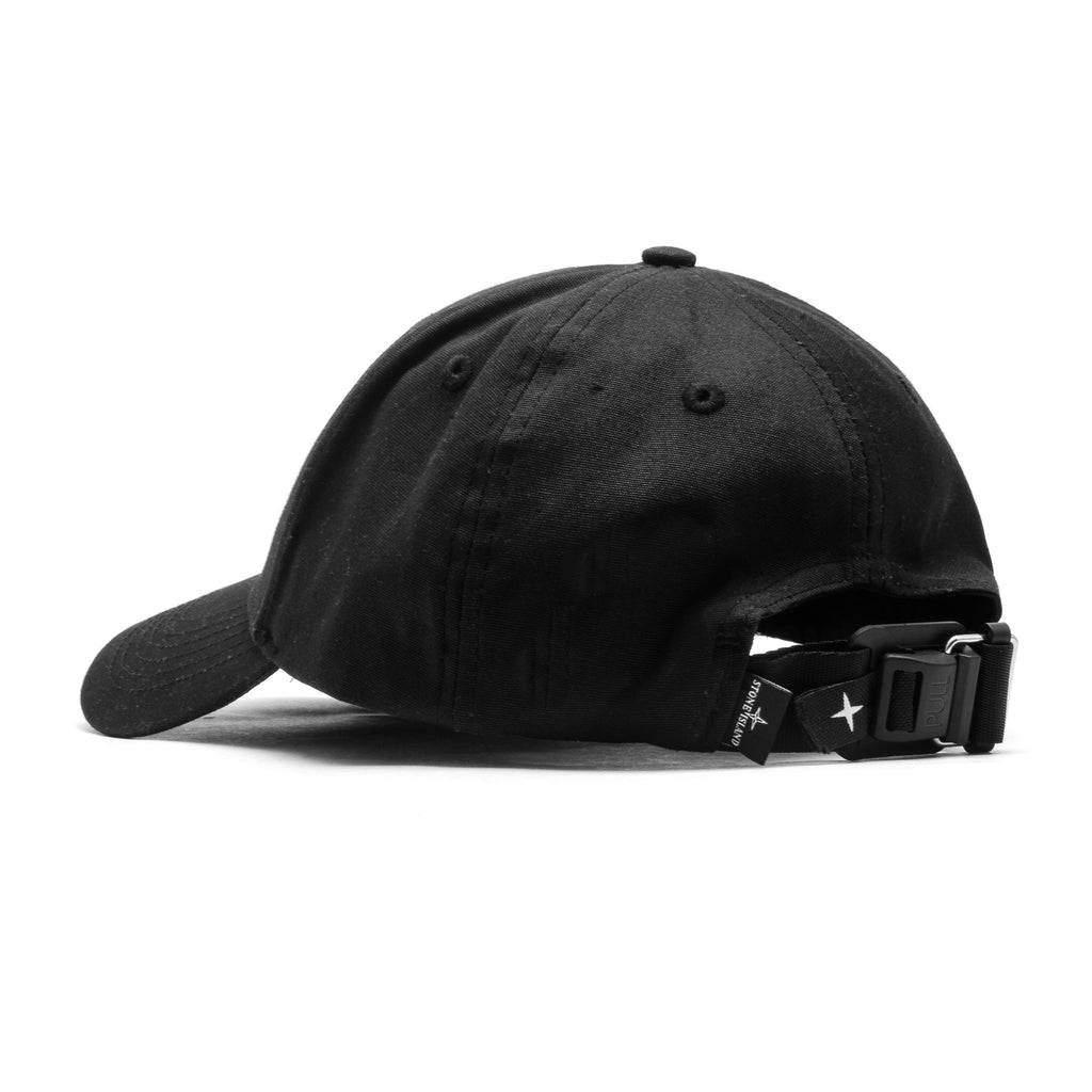 Logo Magnetic Buckle Strapback Cap 721599168 Black