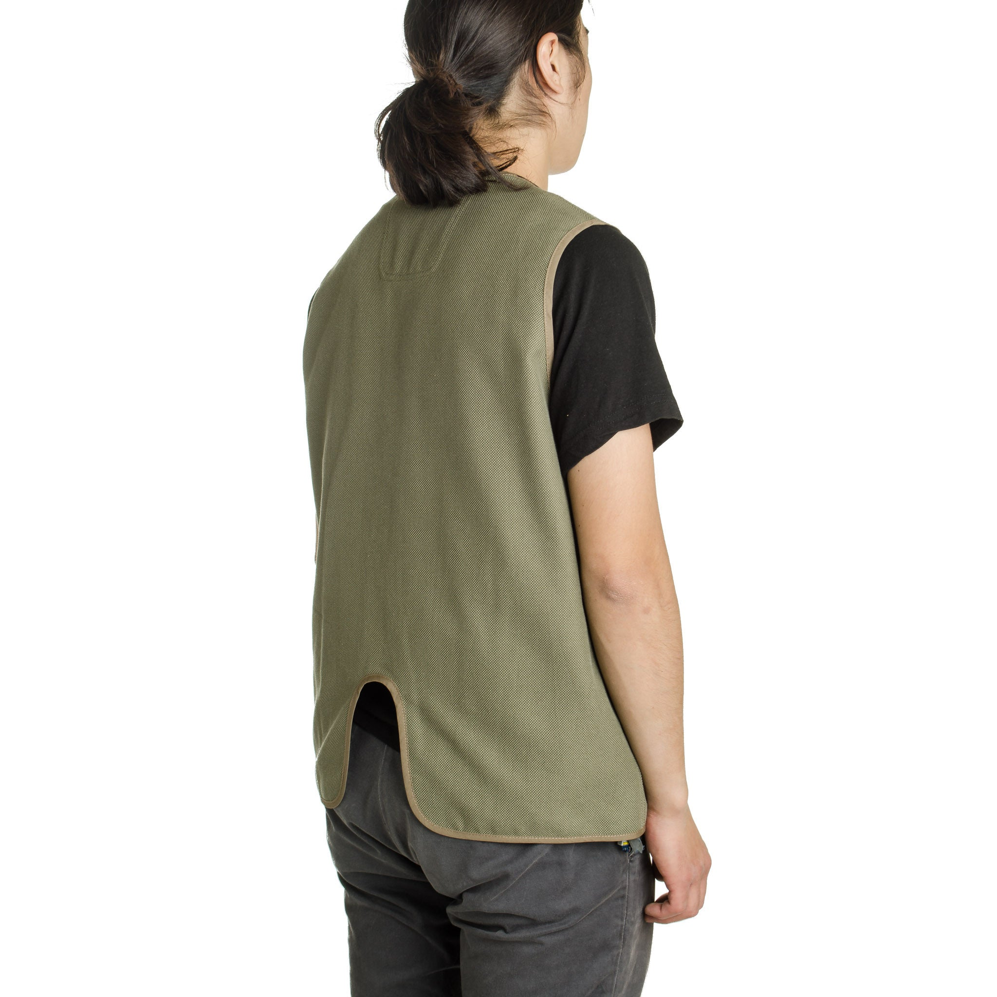 Birds Eye Bal Collar Coat Khaki MW-JKT16102