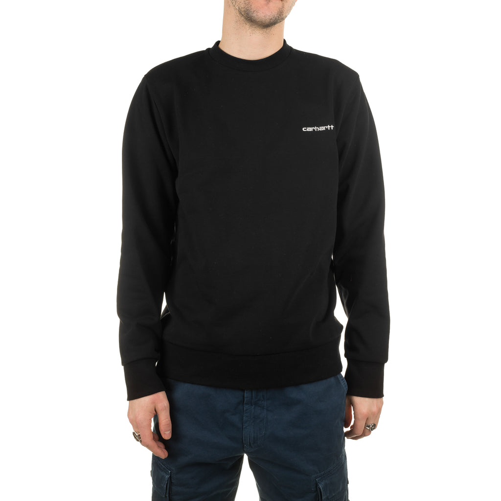 Script Embroidery Sweat I024678 Black