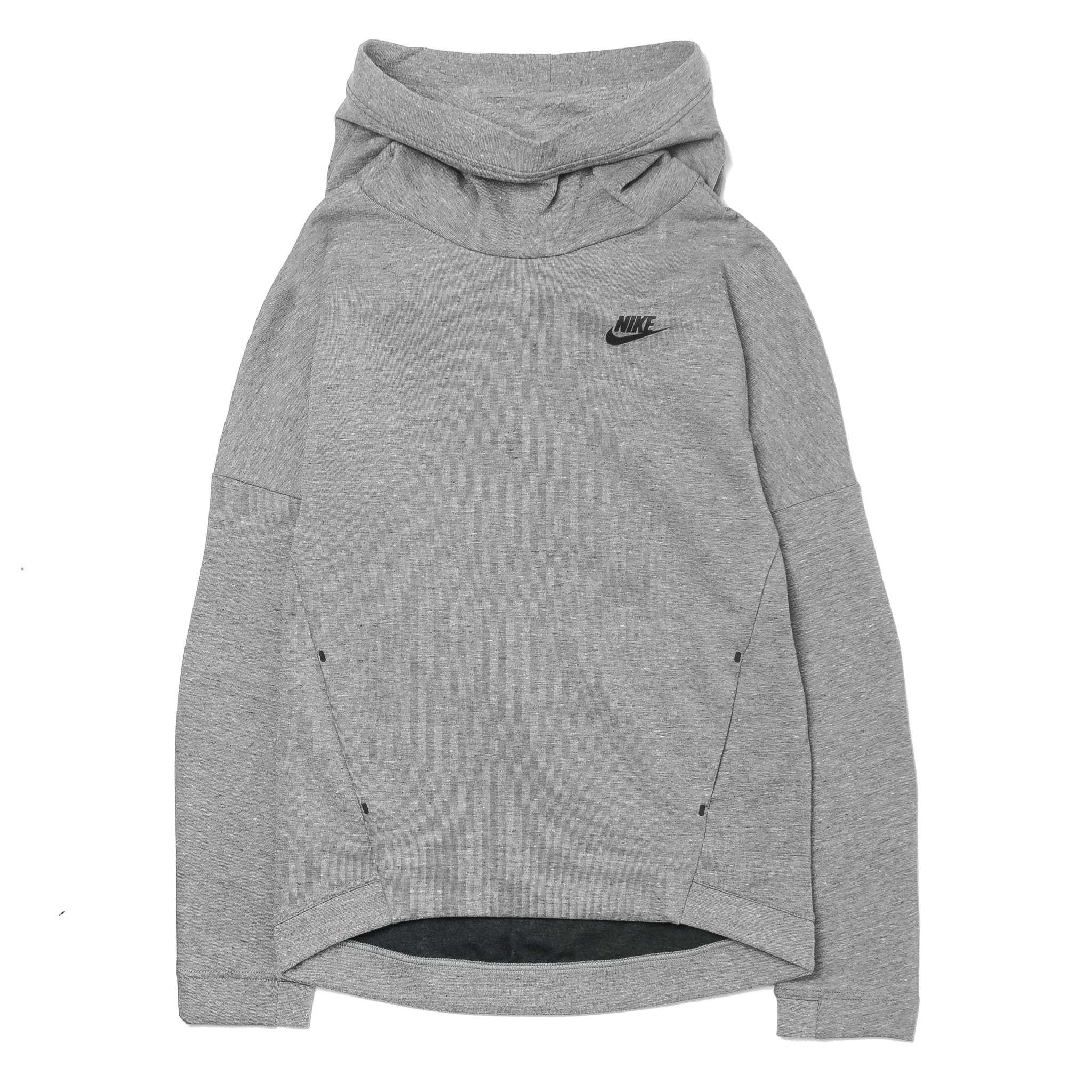 Wmns Tech Fleece Funnel Hoodie 844389-091 Grey