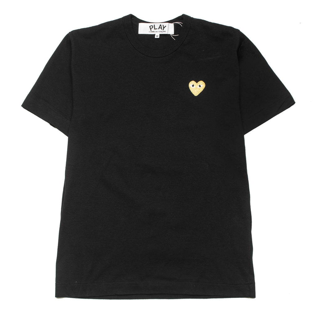 HEART LOGO GOLD AZ-T216-051-1 Tee Black