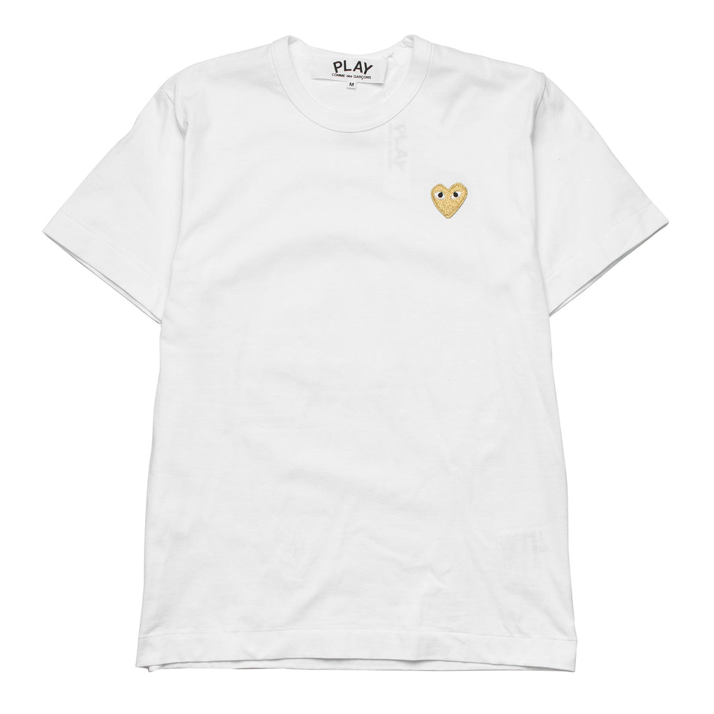HEART LOGO GOLD AZ-T216-051-4 Tee White
