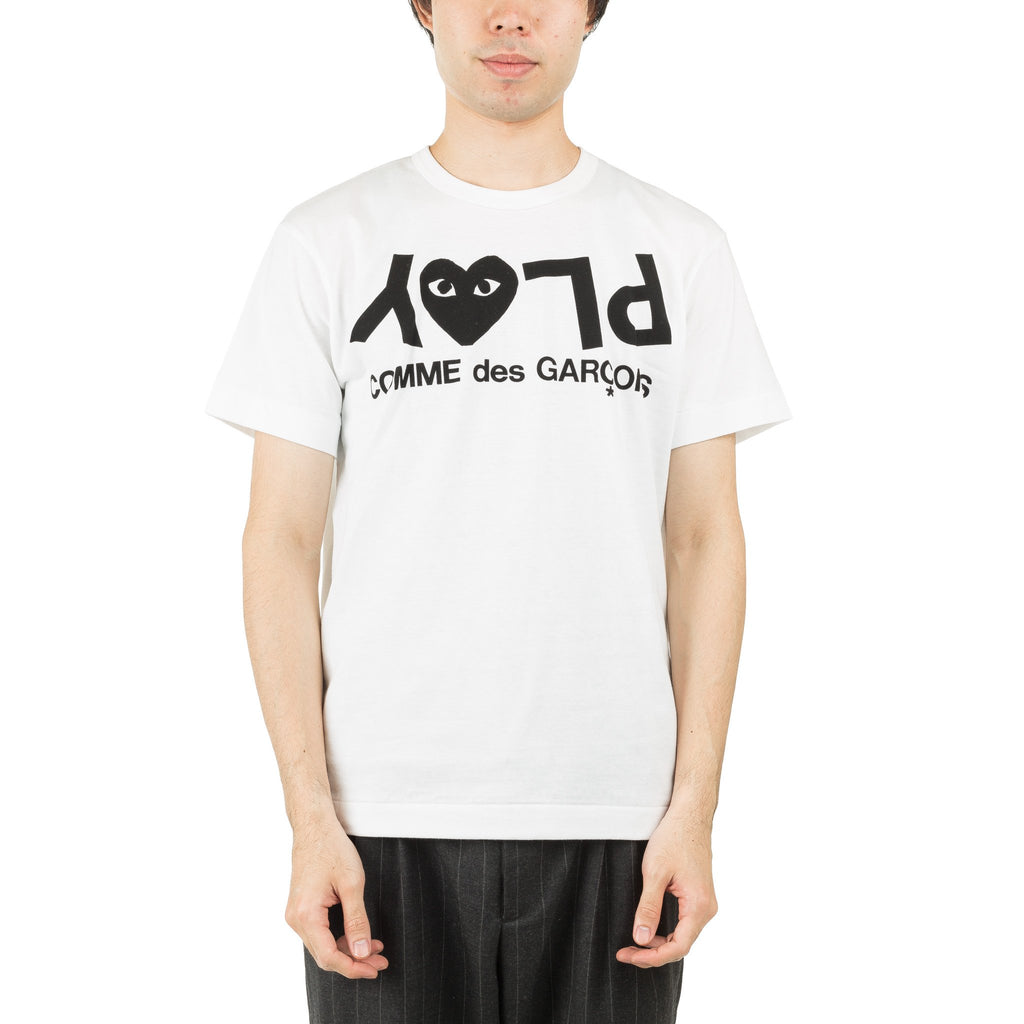 HEART PLAY TEXT AZ-T068-051-1 Tee White