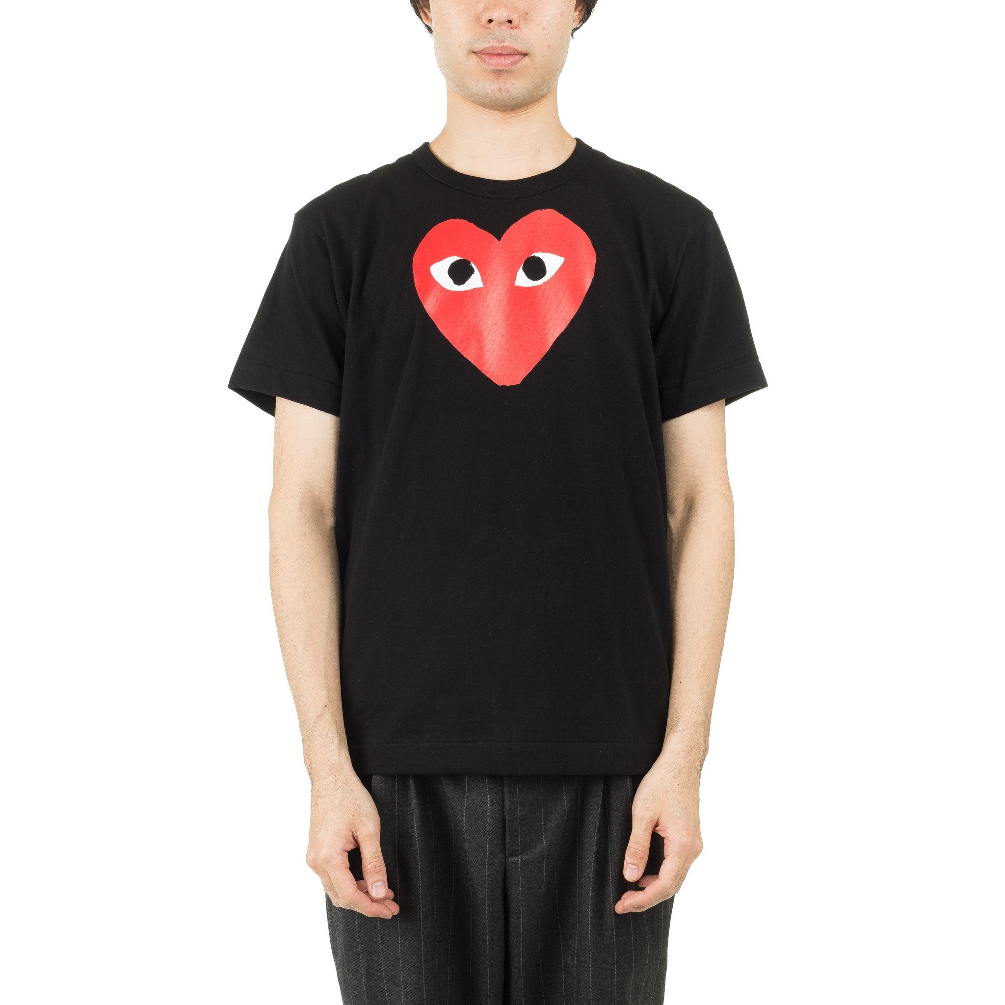 HEART PRINTED RED AZ-T112-051-1 Tee Black