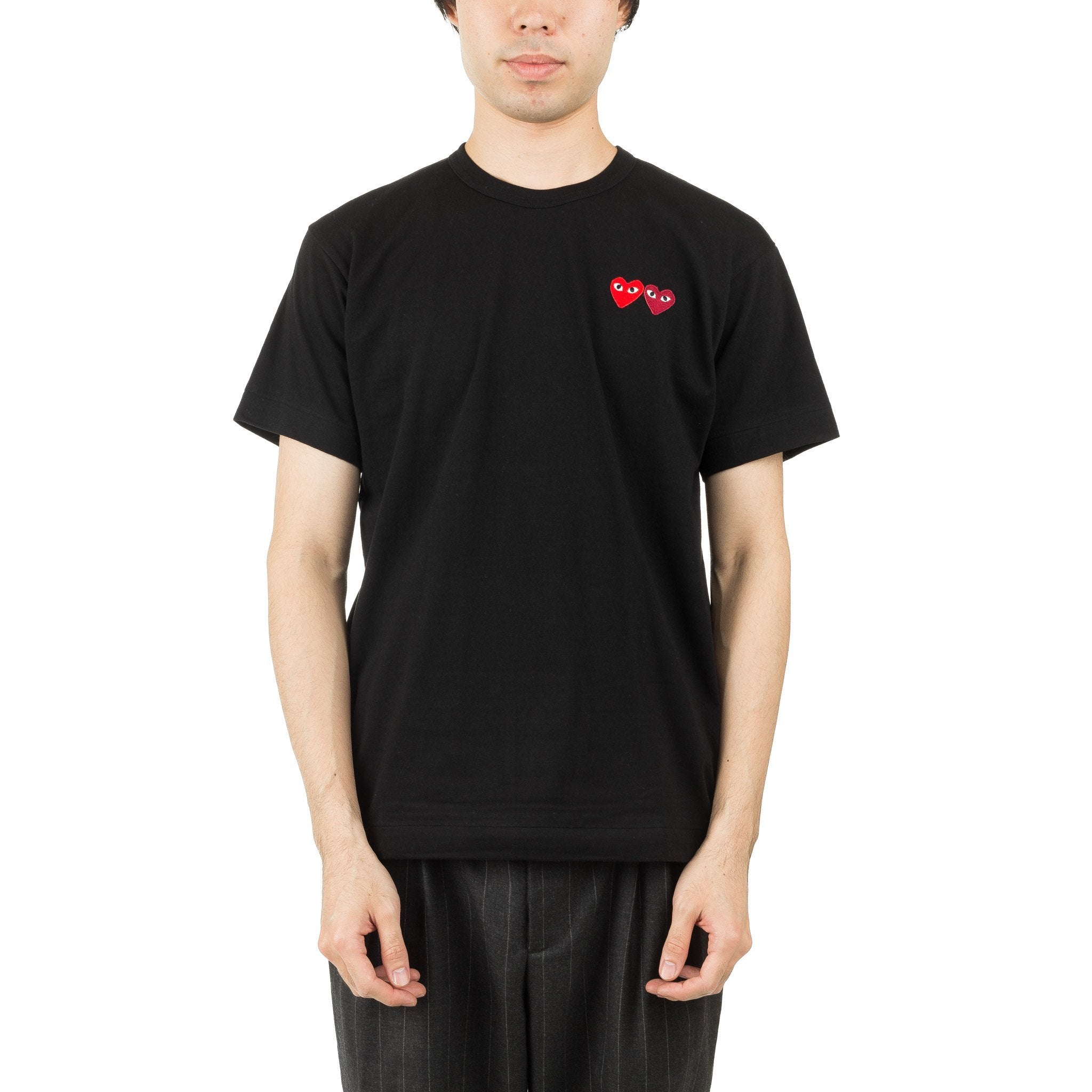 HEART DOUBLE LOGO AZ-T226-051-1 Tee Black