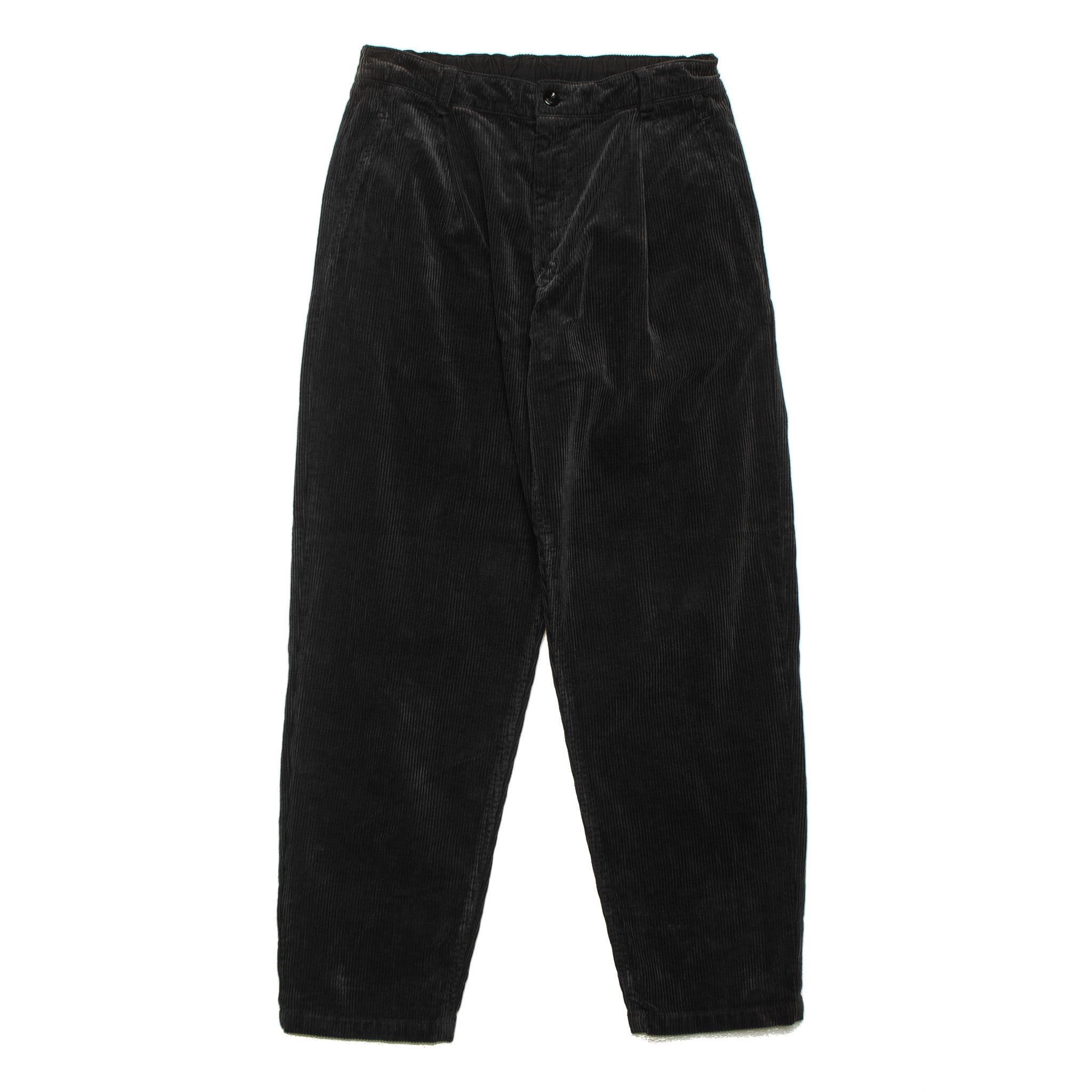 Corduroy Baggy Pants 77210 Black