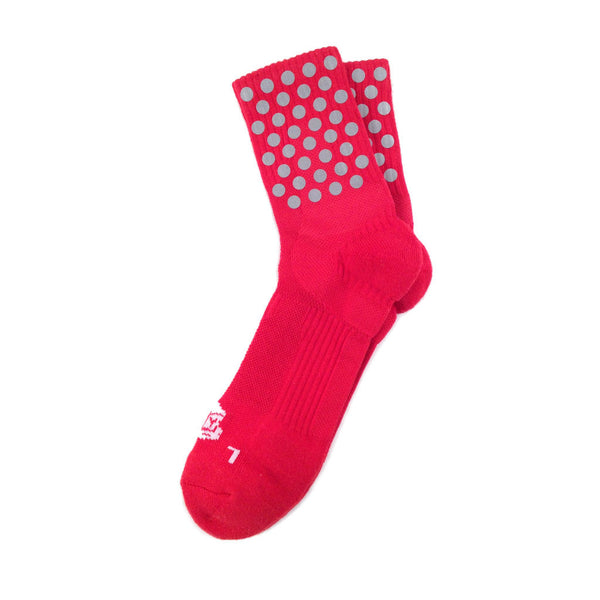 Dot Quarter Ankle Red