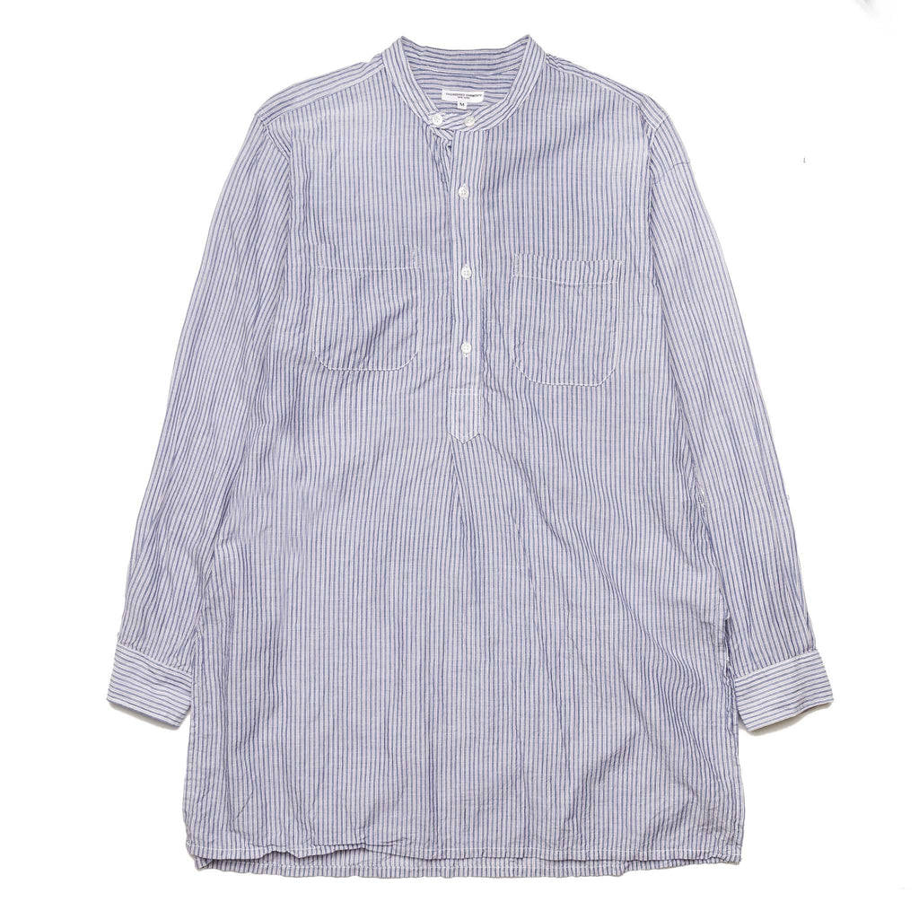 E.G Banded Collar Long Shirt Lt. Blue