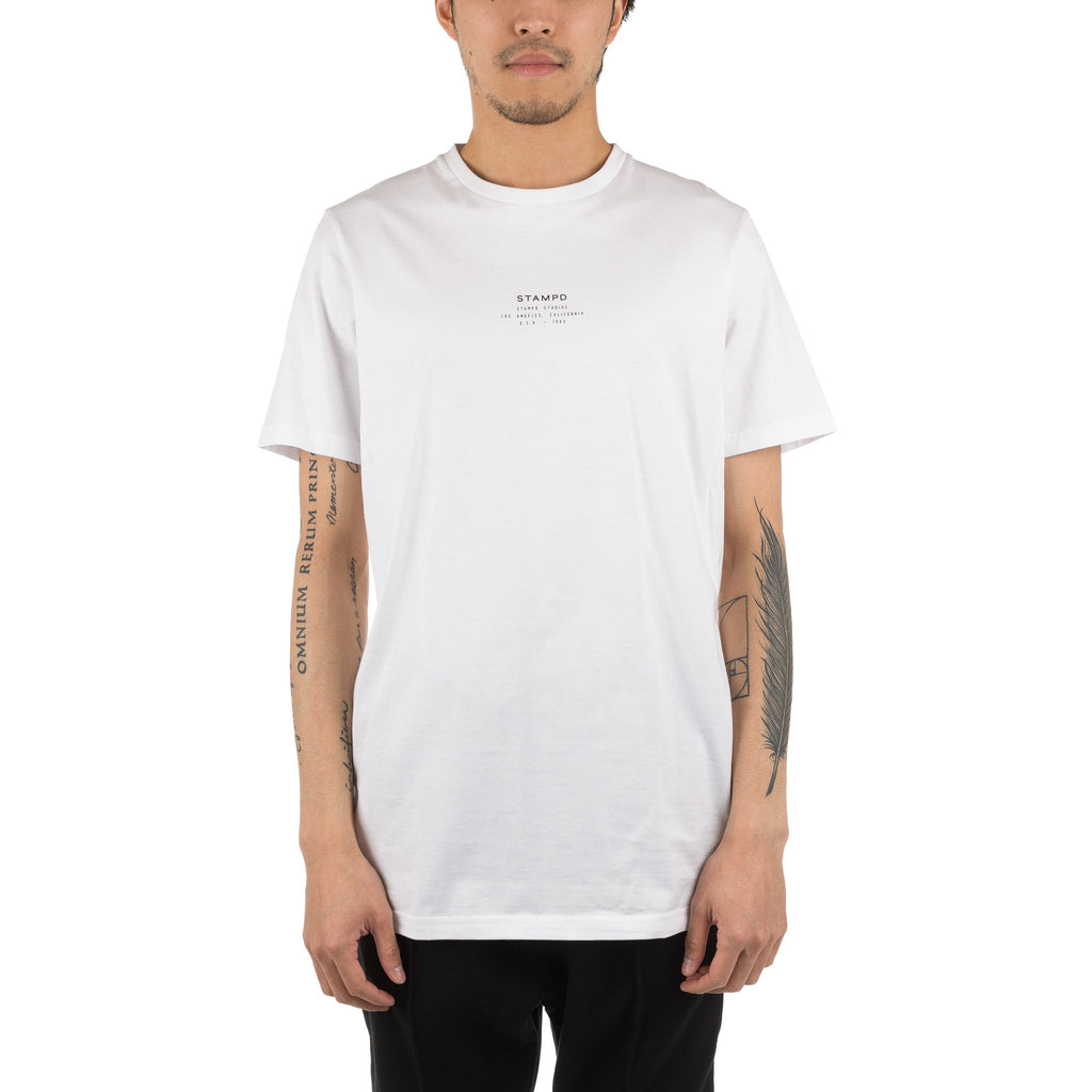 Stacked Stapmd Tee White