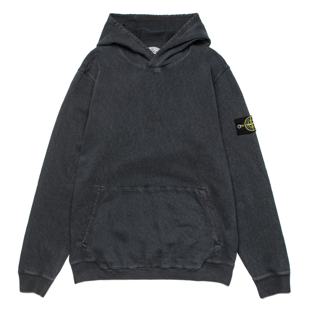 Garment Dyed Old Effect Hoodie 701565660 V0165 Steel Grey