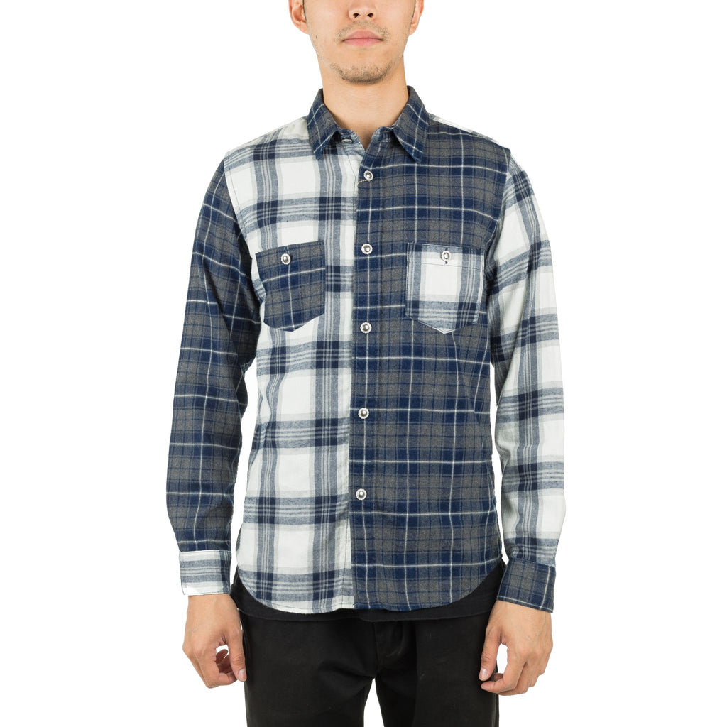 Indigo Check Shirt Grey