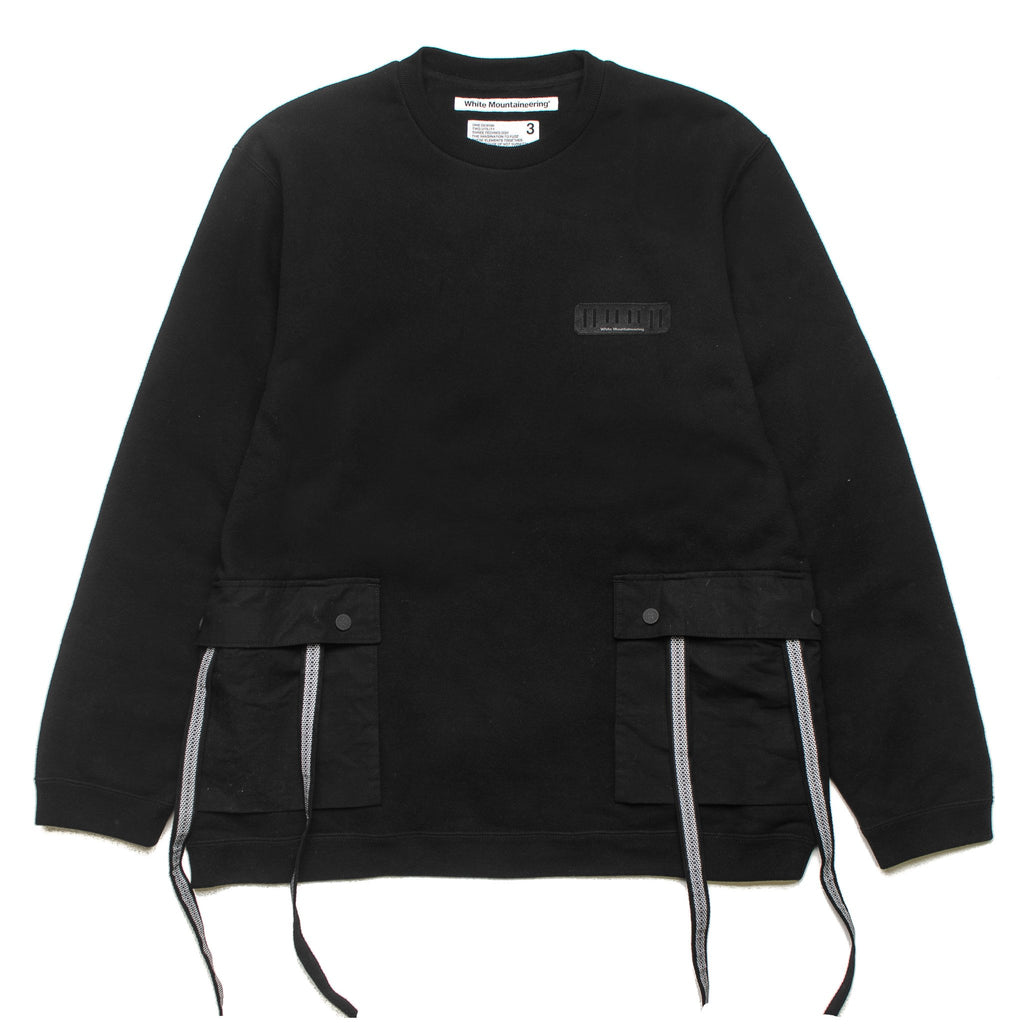 Knit Sweater Big Pocket WM1873519 Black