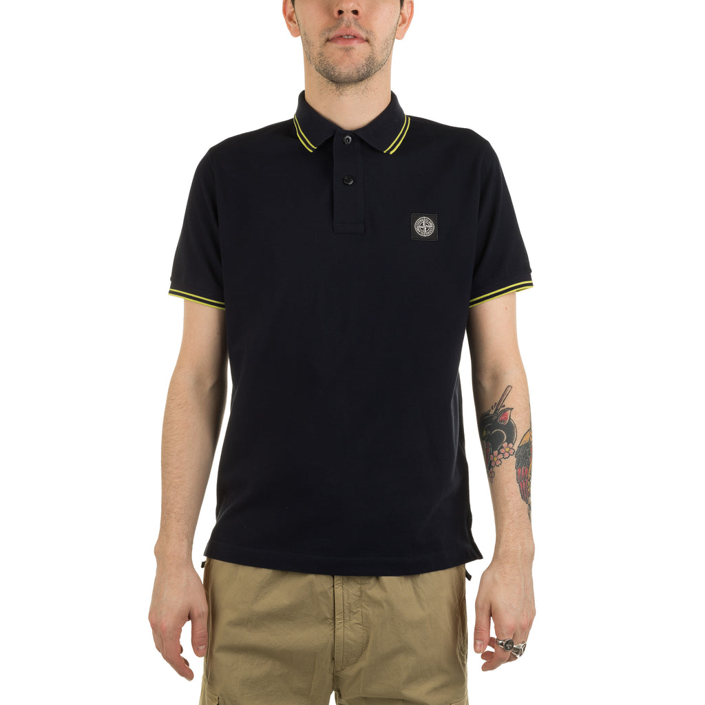 Compass Logo Polo Shirt 101522S18 Navy