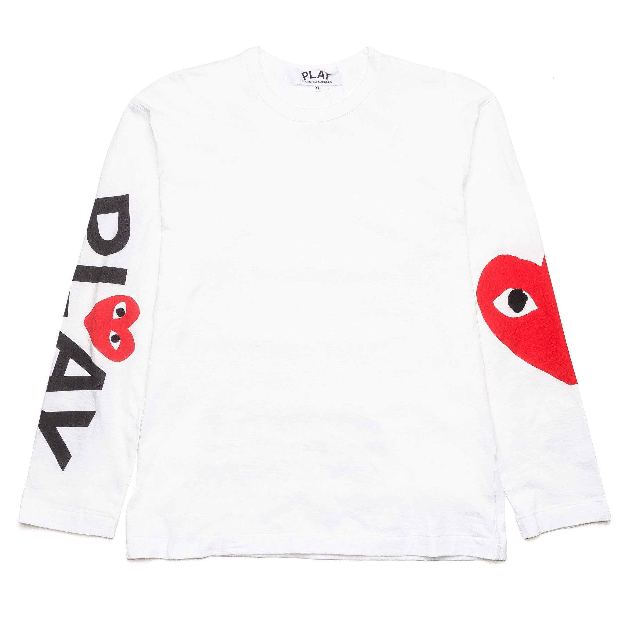 Big Heart Sleeve Print L/S Tee AZ-T258-051-1 White