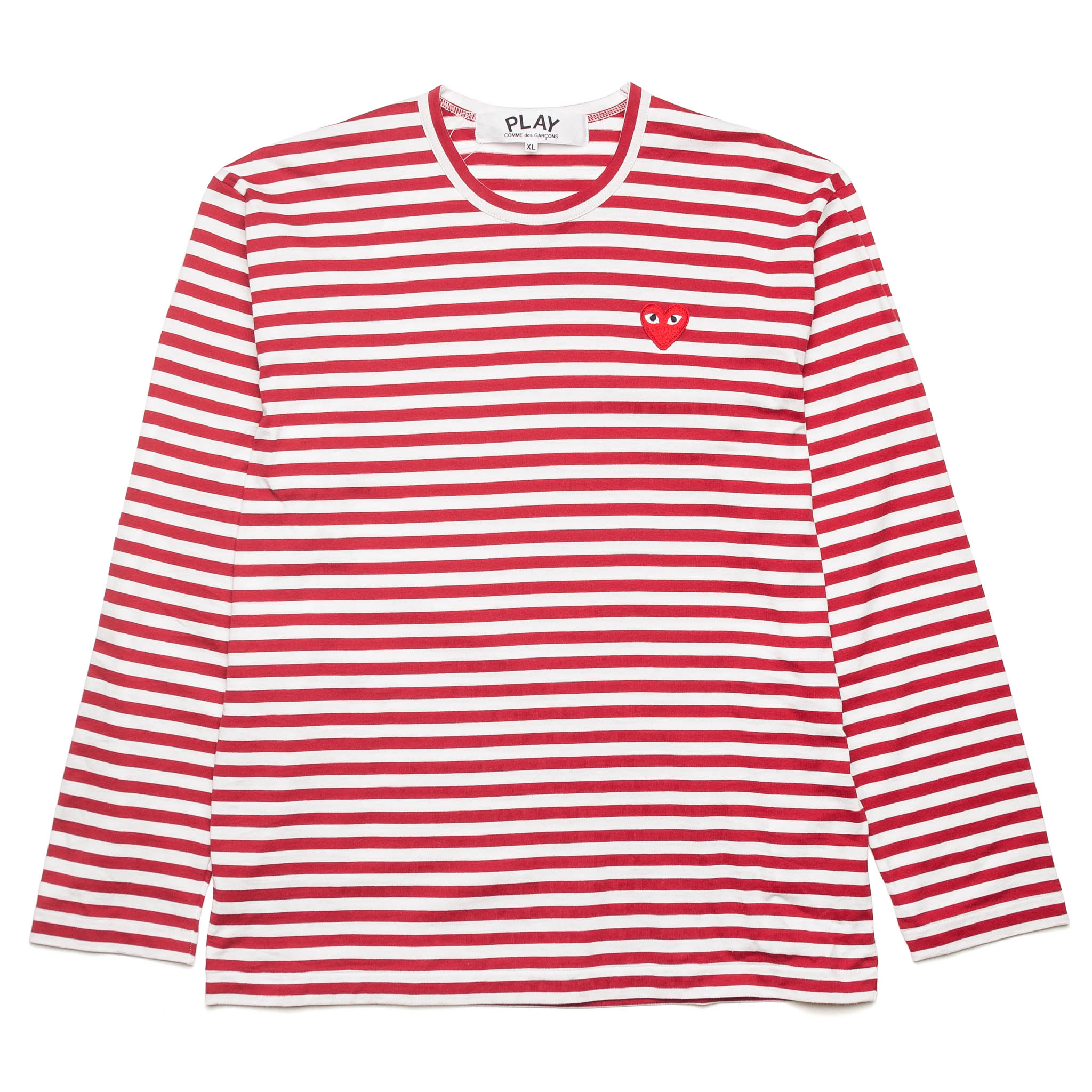 HEART LOGO STRIPED L/S Tee AZ-T164-051-4 Red