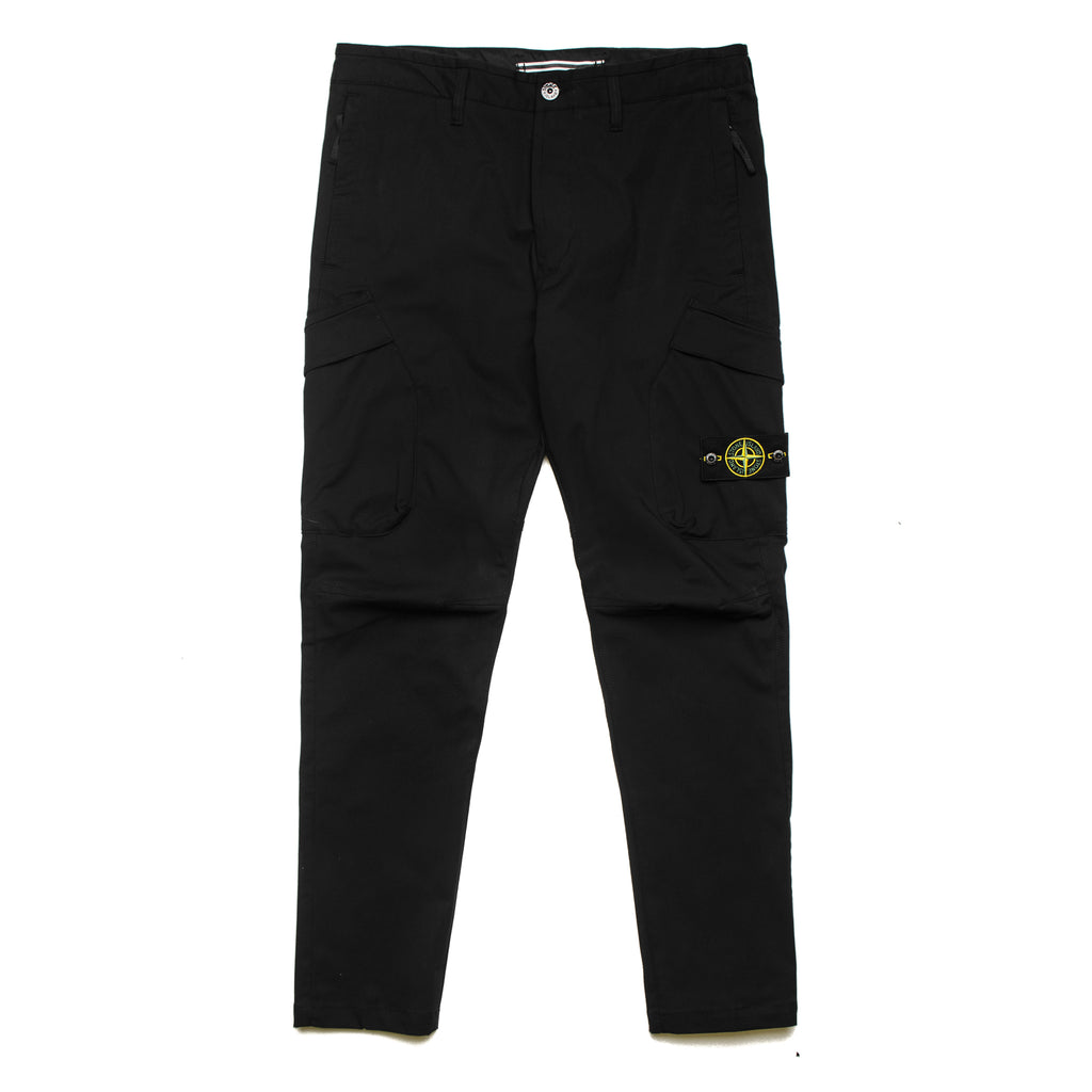 Stretch Cotton Twill Cargo Pant 701531906 V0029 Black