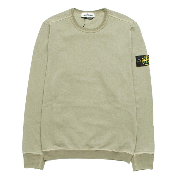 Garment Dyed Effect Crew 671563561 Olive