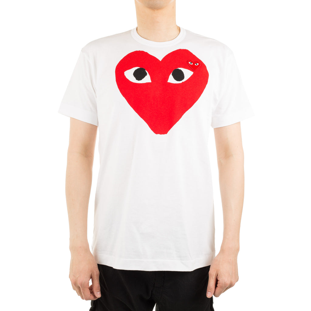 Big Heart With Heart Emblem Tee AZ-T026-051-1 White