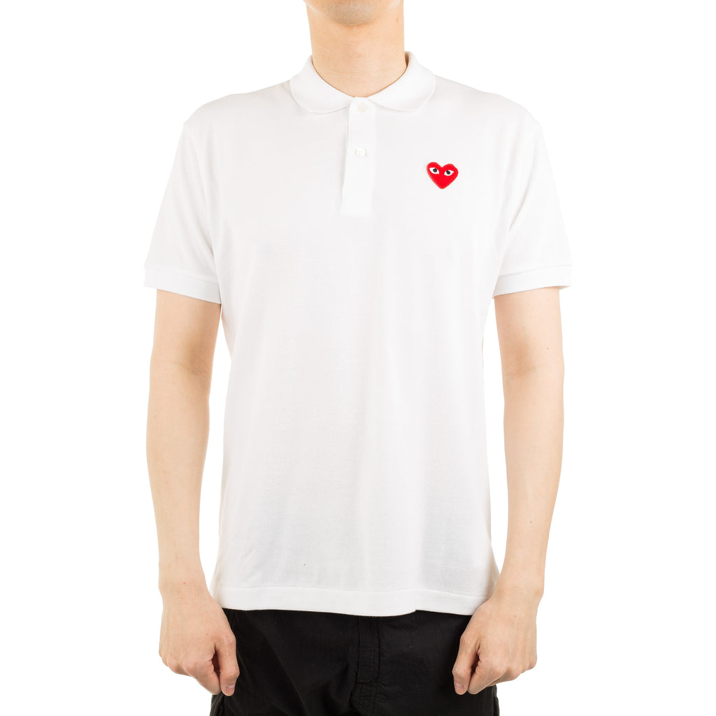 Heart Logo Black Eye Polo AZ-T006-051-5 White