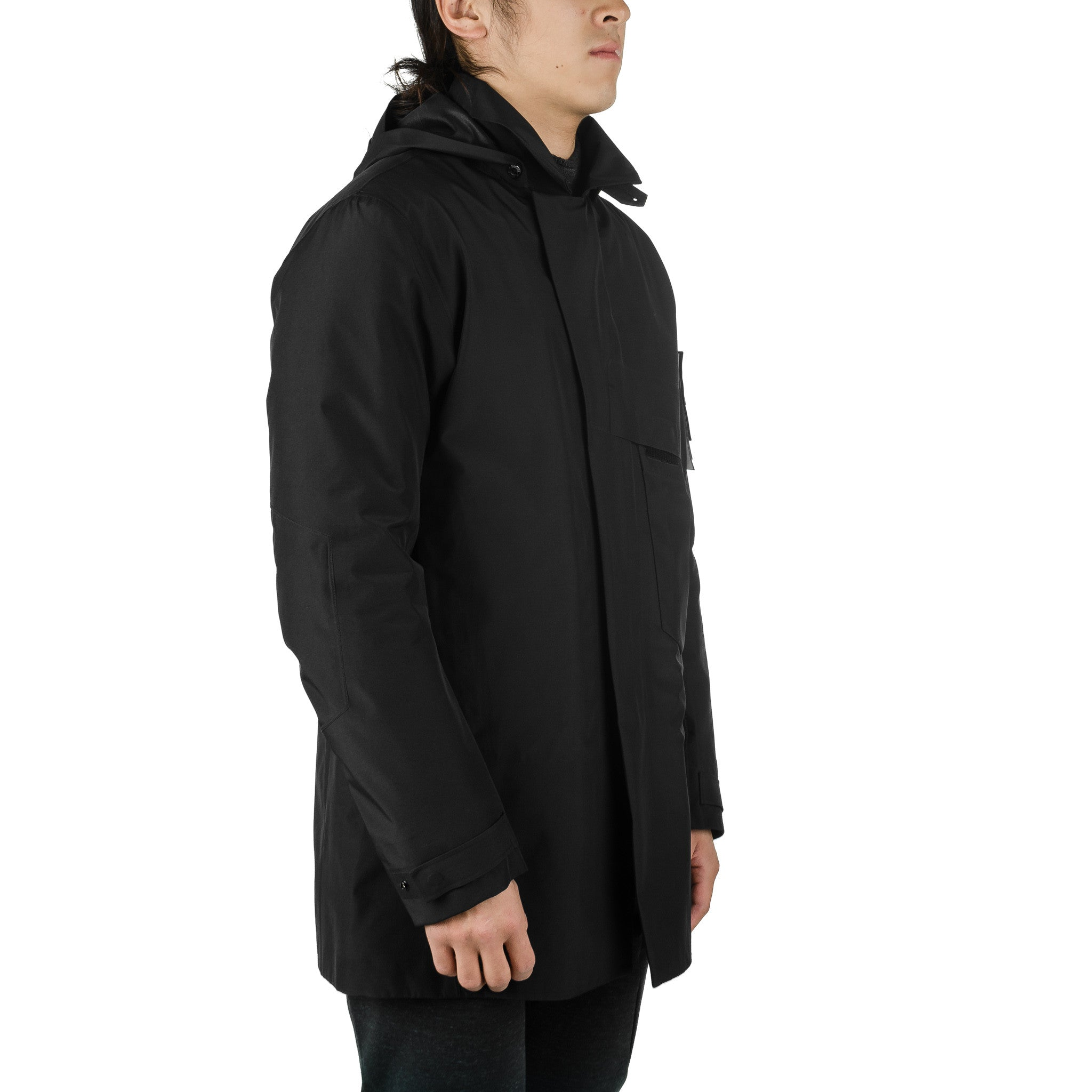 Detachable Hood Jacket Black