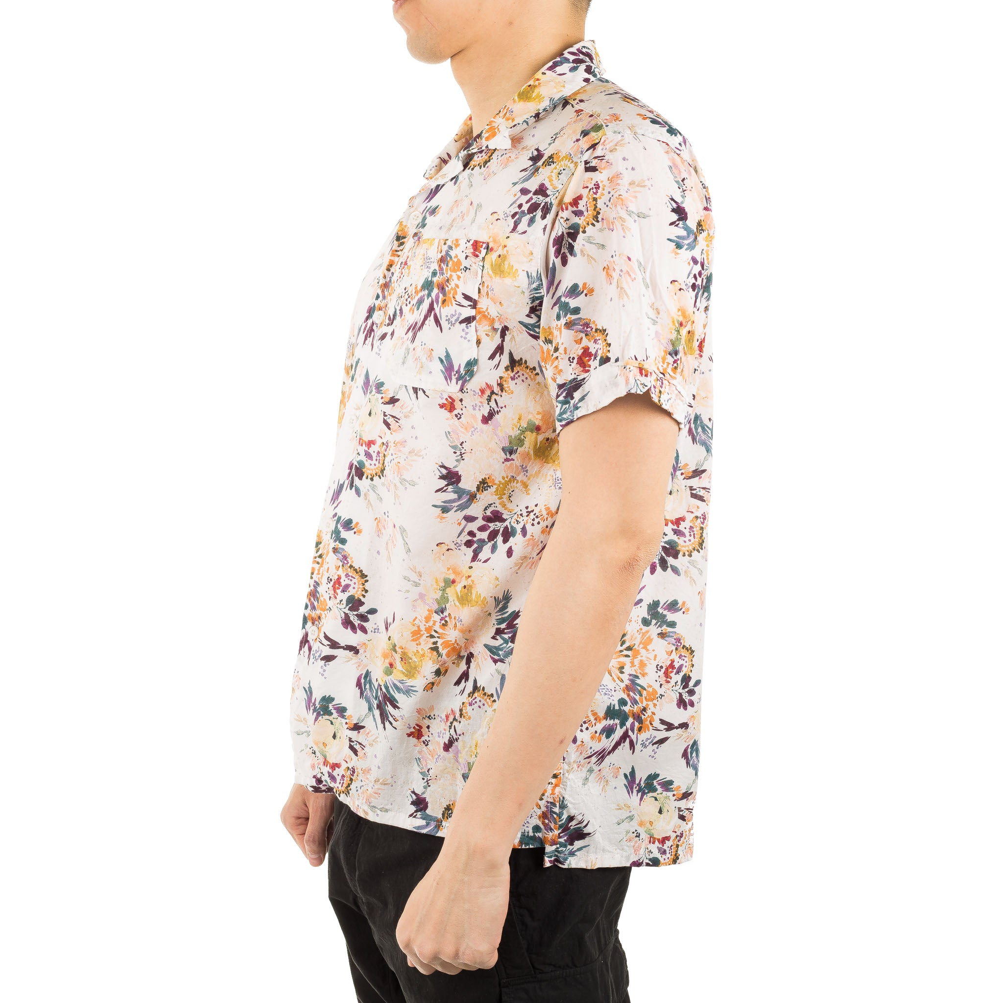 Botany Printed Lawn Camp Shirt White