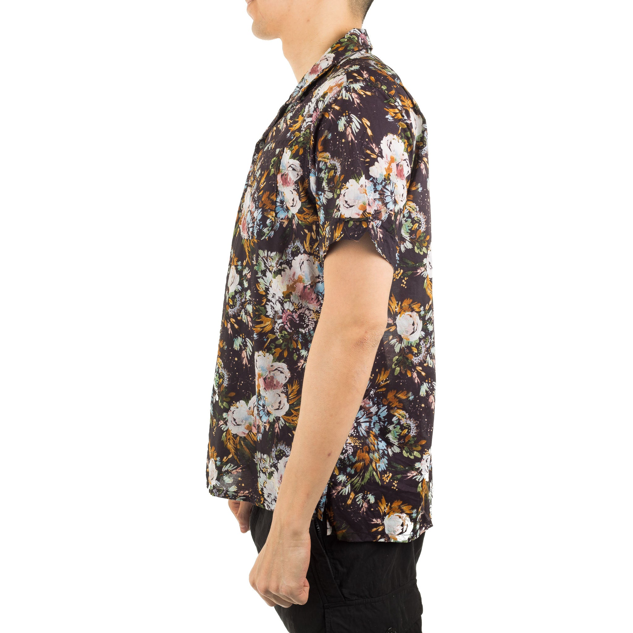 Botany Printed Lawn Camp Shirt Navy