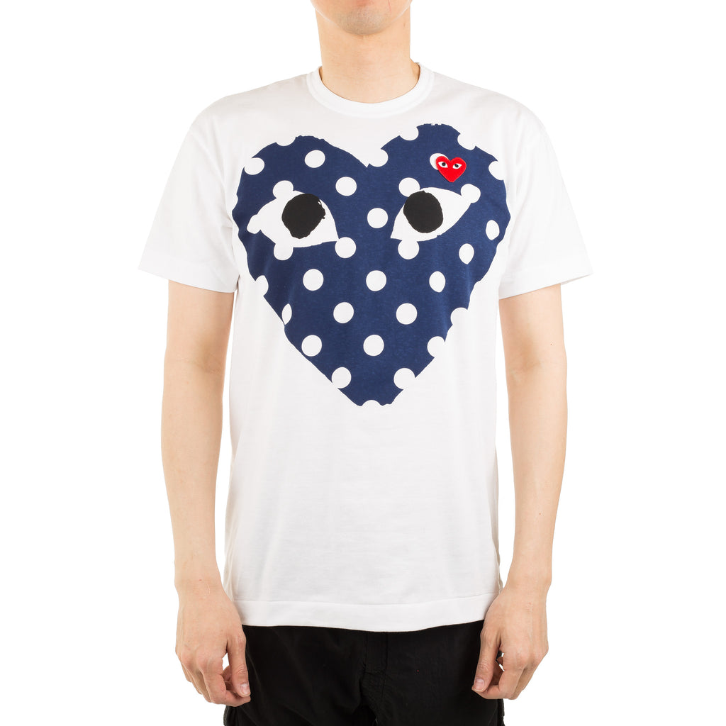 Big Heart With Polka Dots Tee AZ-T234-051-1 White