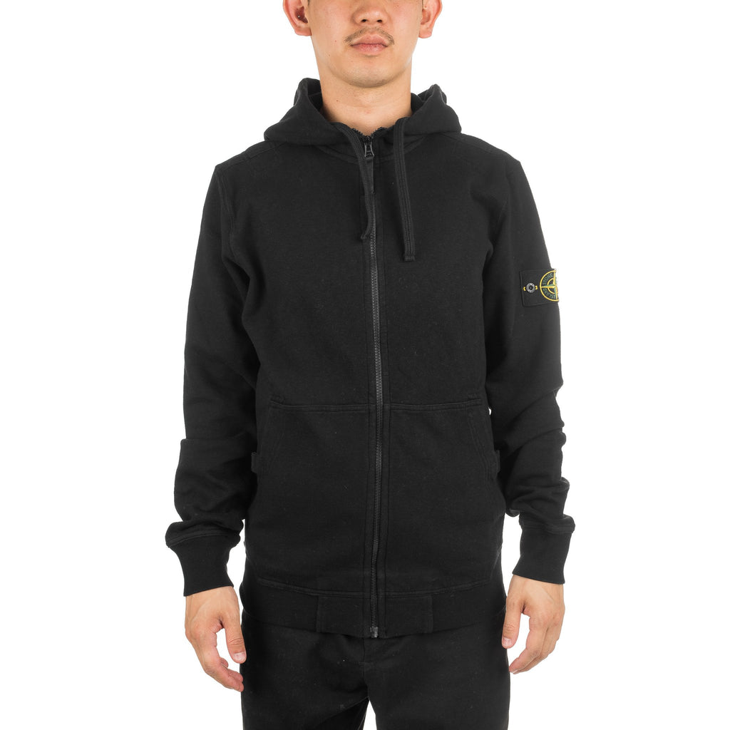 Garment Dyed Zip Hoody 691563161 Black