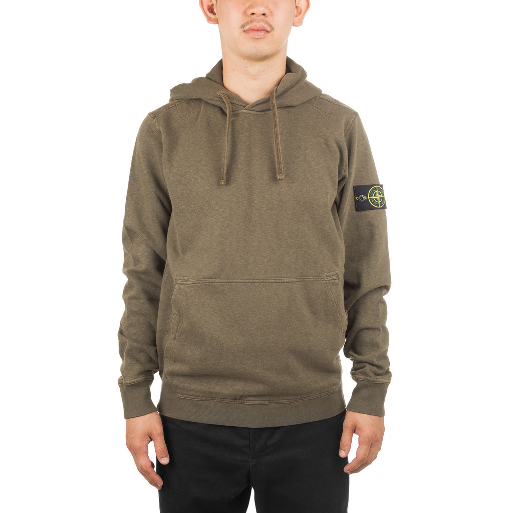Garment Dyed Old Hoodie 691566161 Olive