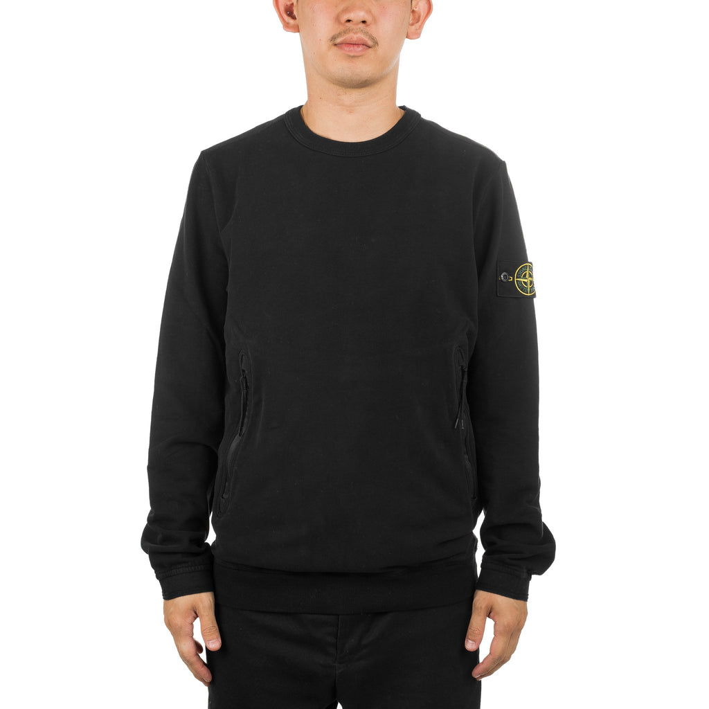 Crewneck Zip Pocket  691564438 Black