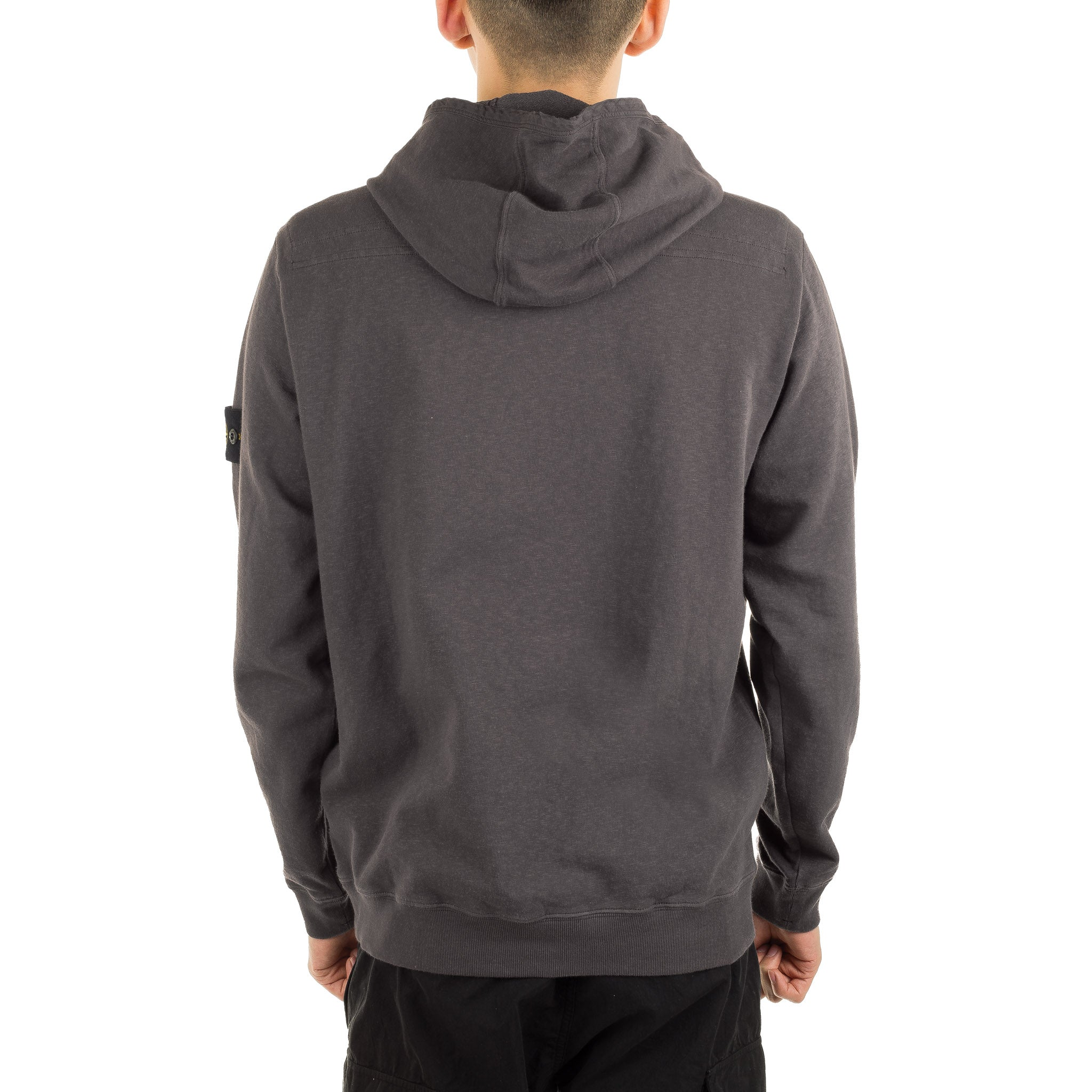 Garment Dyed Old Effect Hoodie 701565660 V0063 Charcoal