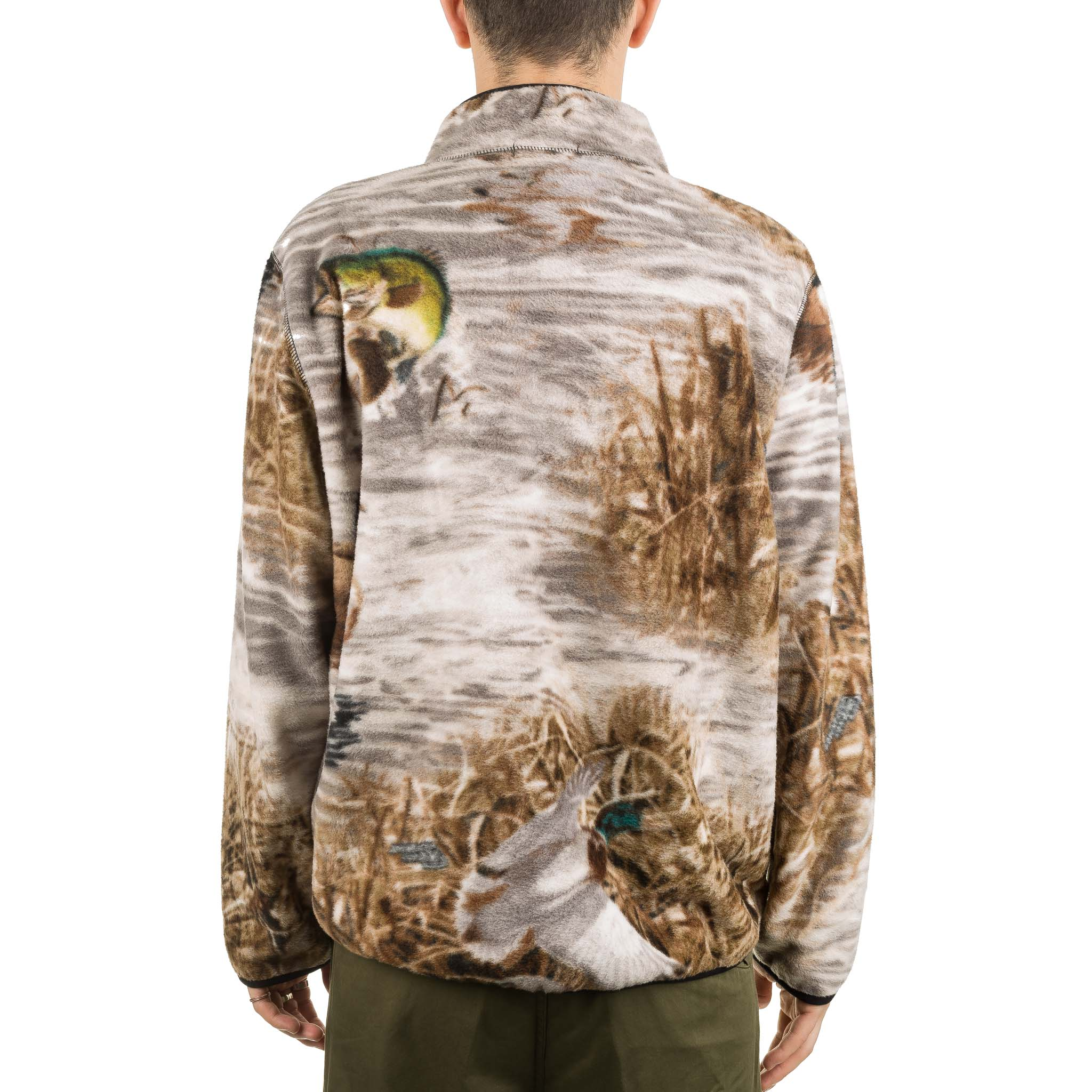 Ducks & Fish Fleece Half Zip Real Tree