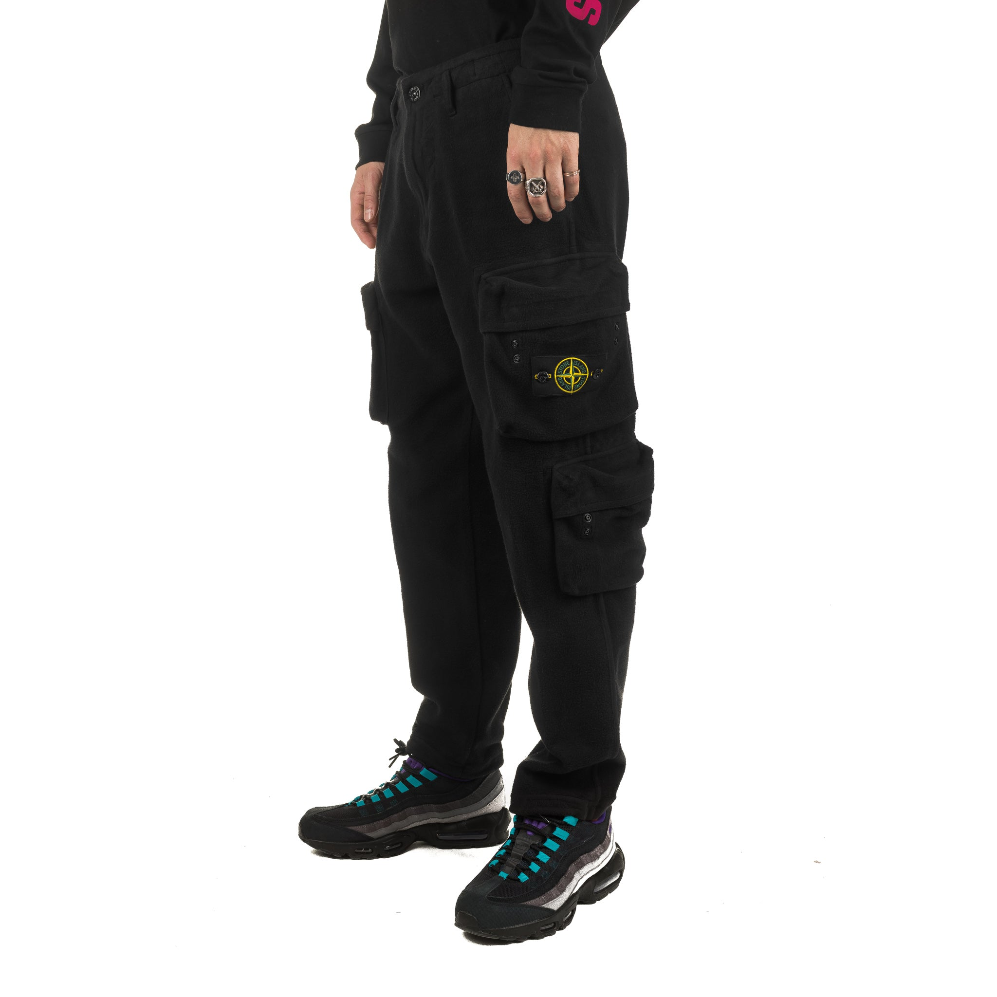 Poly Fleece Cargo Trouser 711530740 Black