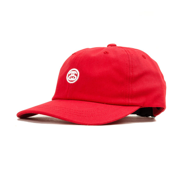 Contrast Strap Cap Red
