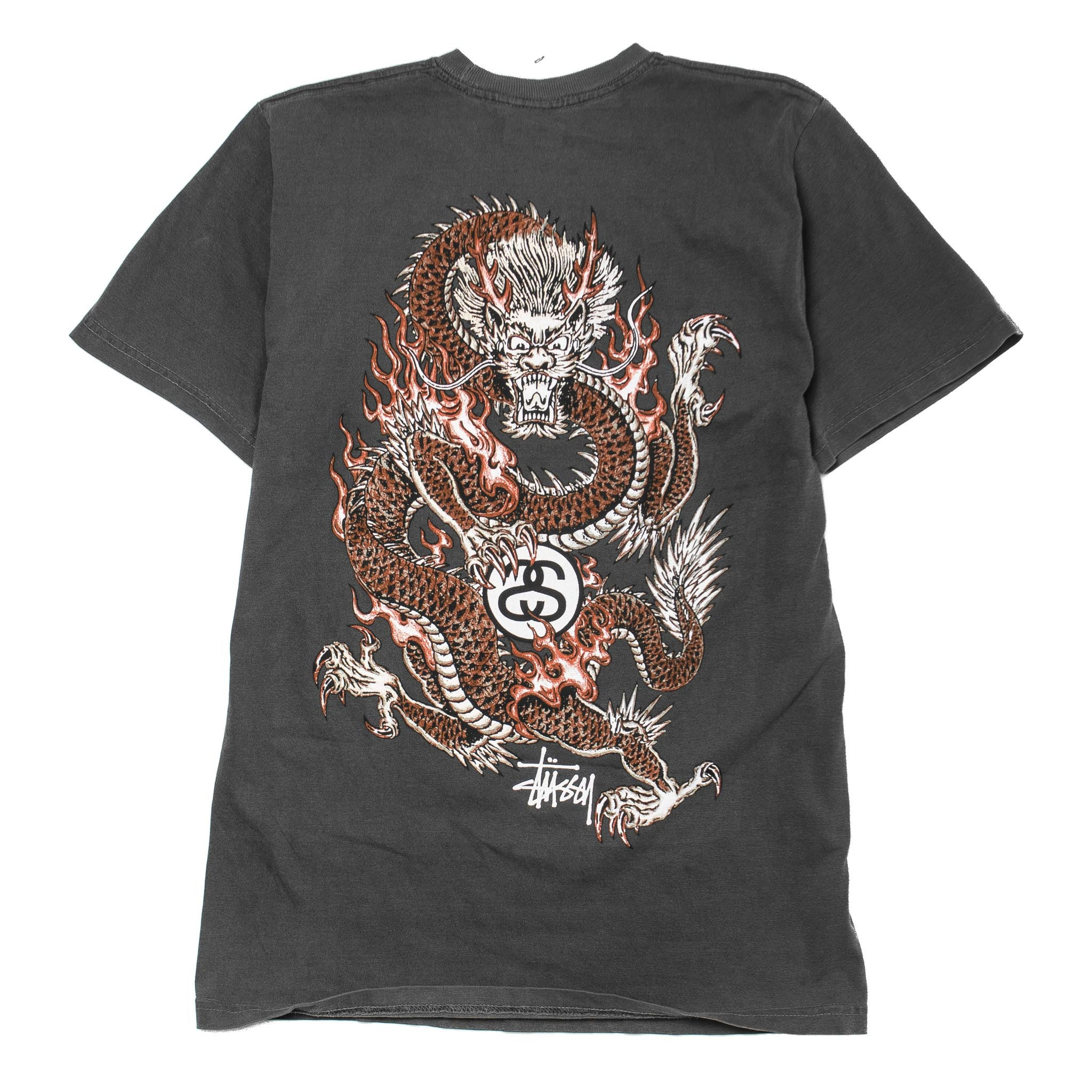 Fire Dragon Pig Dyed Tee Black