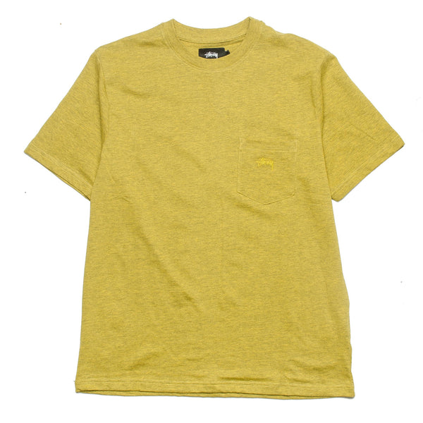 Heather O'Dyed SS Pocket Tee Gold Heather