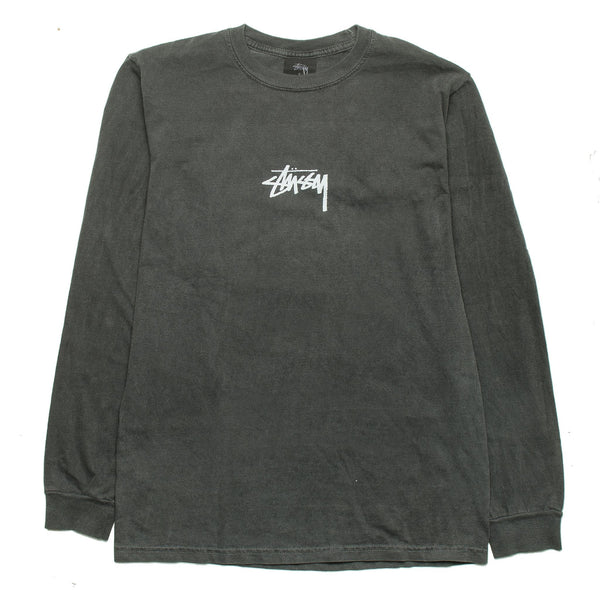 Stock Pig Dyed LS Tee Black