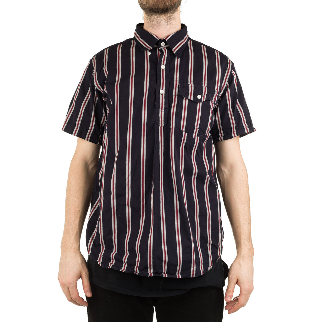 Popover BD Shirt TH003 Regimental Stripe Navy/Red