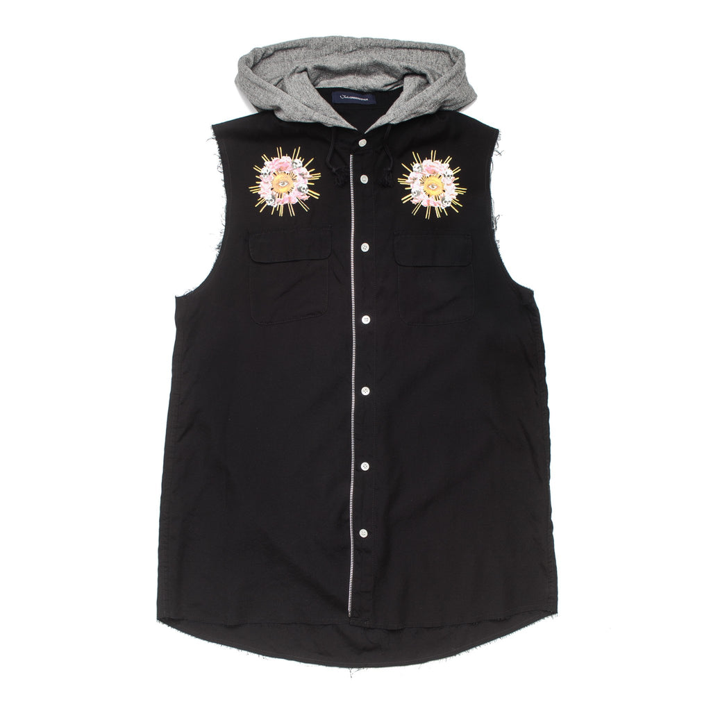 Psylence Hooded Vest JUU4001 Black