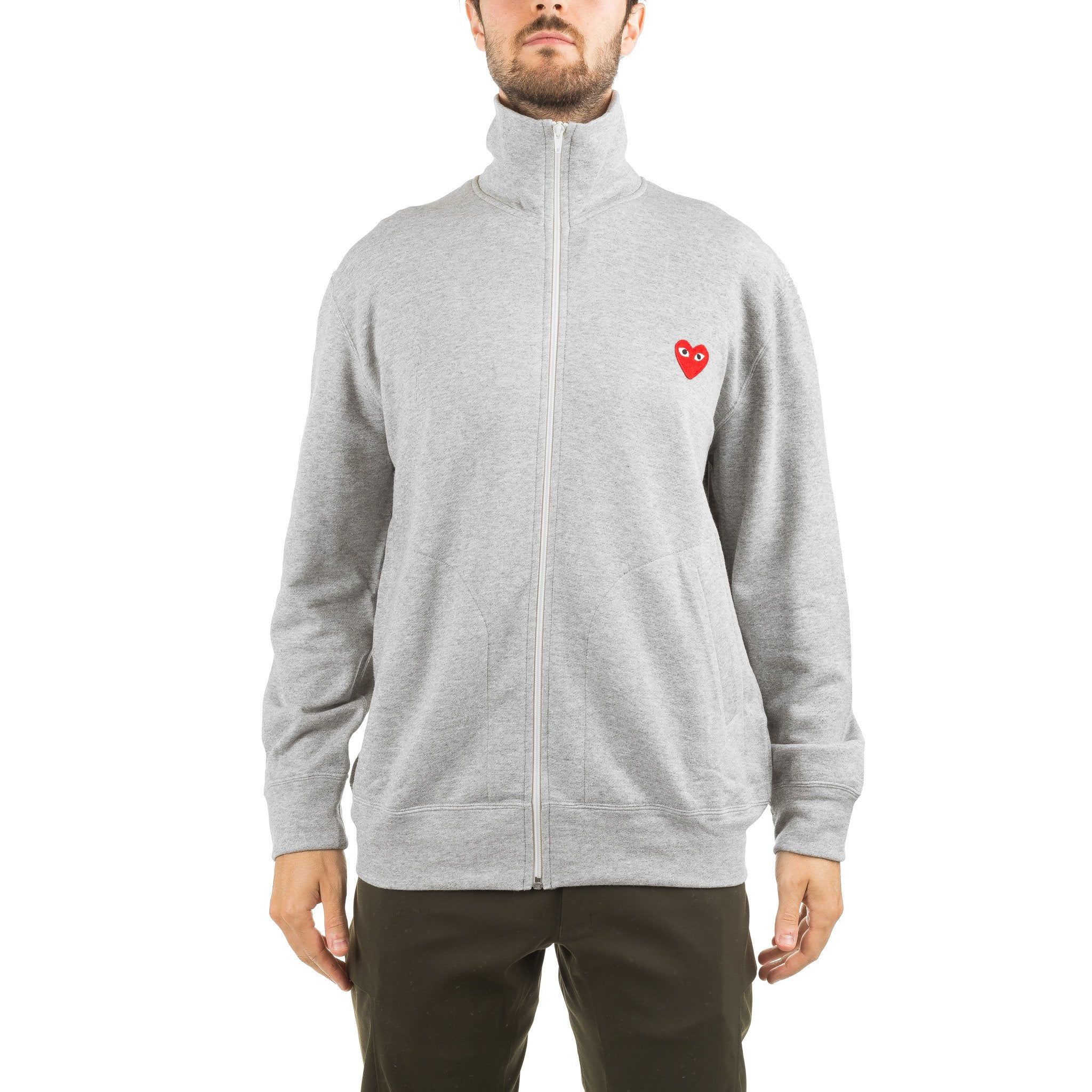 Multi Heart Back Print Track Jacket AZ-T252-051-1 Grey