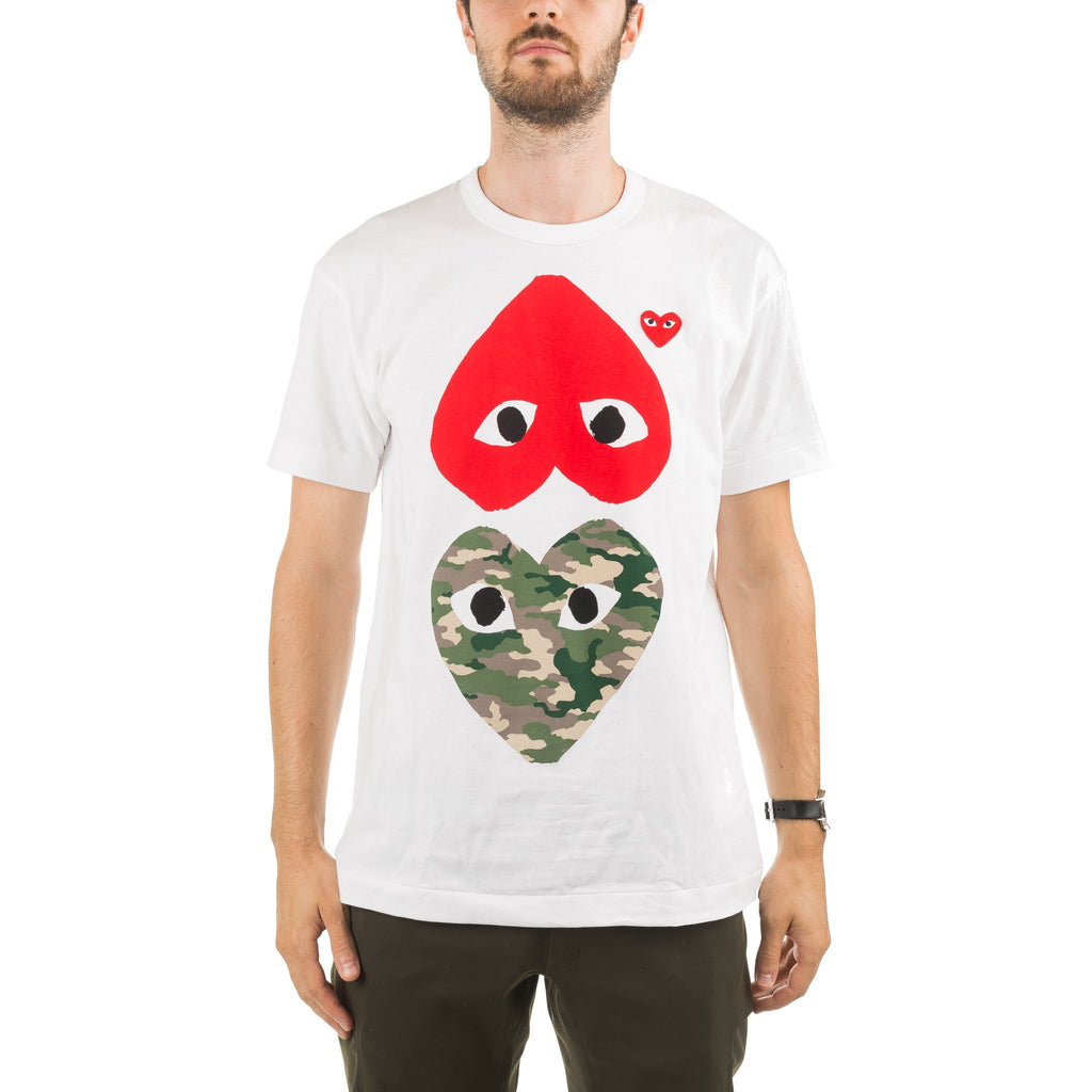 Upside Down Camo Tee AZ-T248-051-1 White