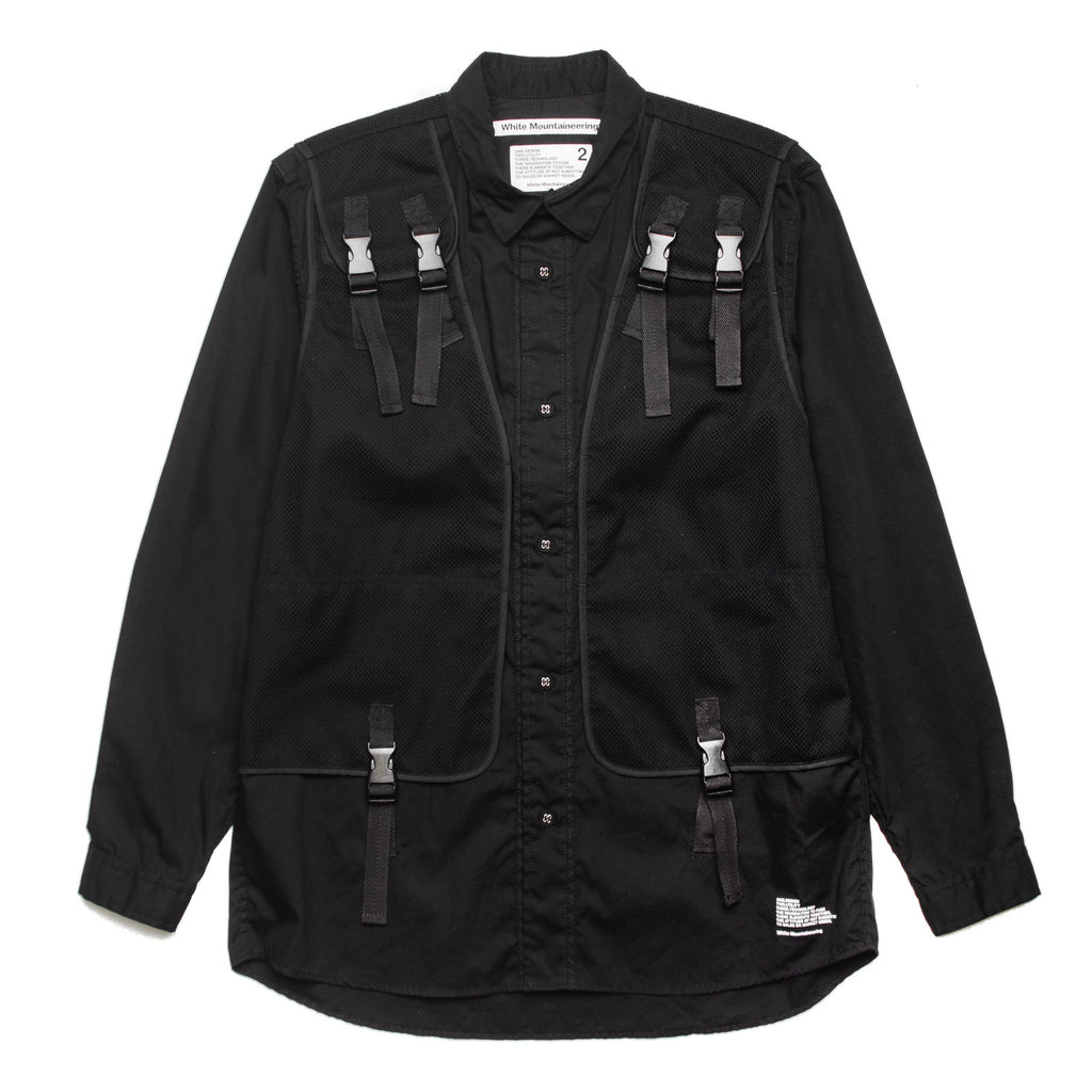 Military Vest Shirt WM1971101 Black
