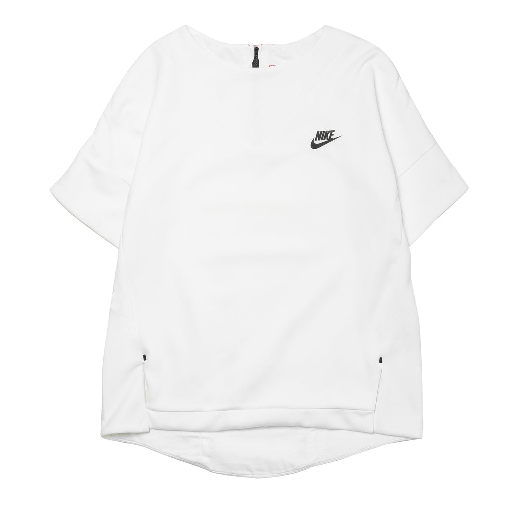 W Tech Fleece SS Crew  803581-100 White