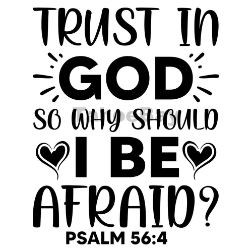 Trust In God I Be Afraid Can Cooler Graphic Design Files | SVG PNG