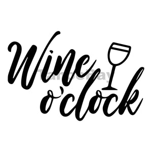 Wine O'clock Can Cooler Graphic Design Files | SVG PNG